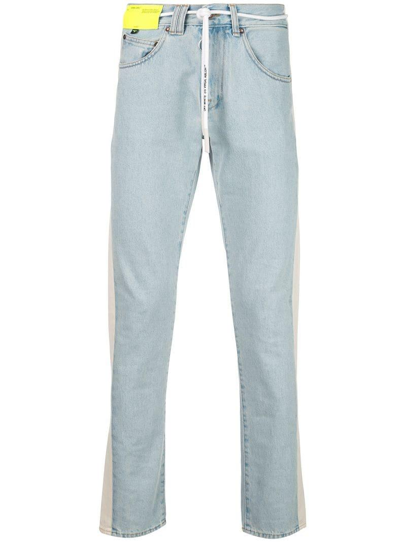 4962f561b72f Lyst - Off-White C O Virgil Abloh Slim-fit Jeans in Blue for Men