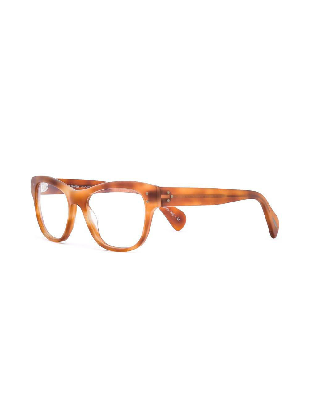 b4965c0eafc Oliver Peoples Parsons Glasses in Yellow - Lyst