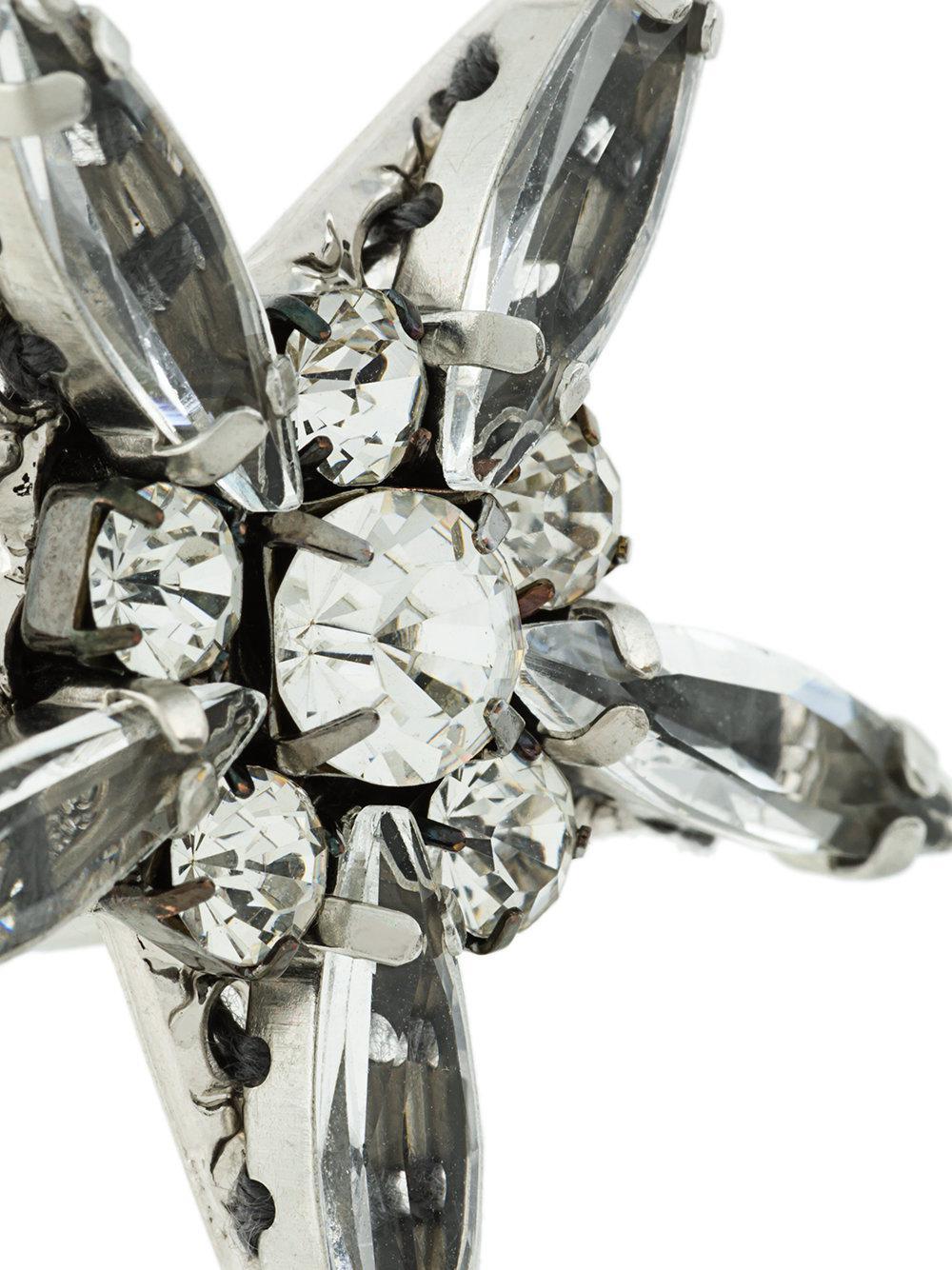 Rada' Orecchini A Stella Decorati in Metallic