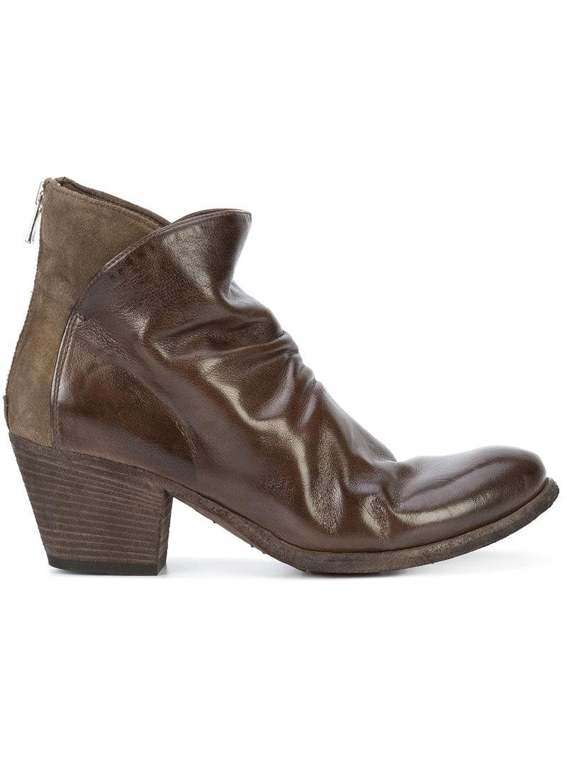 Officine Creative Leather Giselle Boots In Brown Lyst