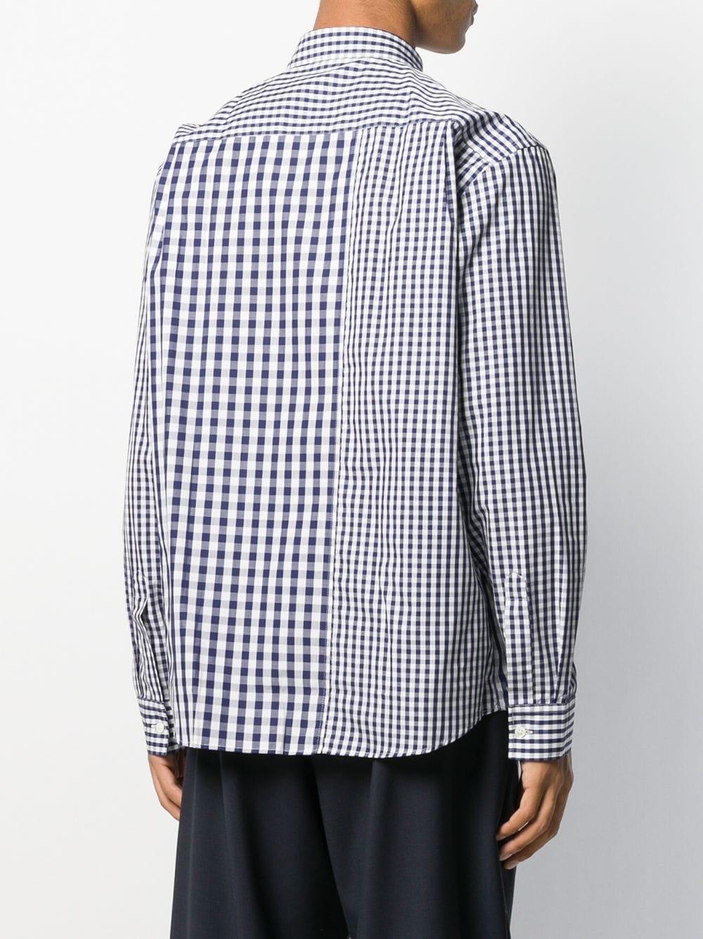 JW Anderson Katoen Geruit Overhemd in het Blauw voor heren