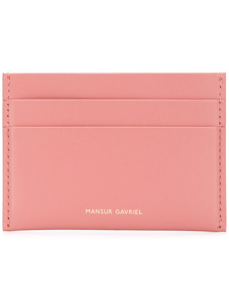 classic card holder - Red Mansur Gavriel View Cheap Online Cool Online Cheap Price Outlet Store Locations Cheap Sale Genuine yEQhl