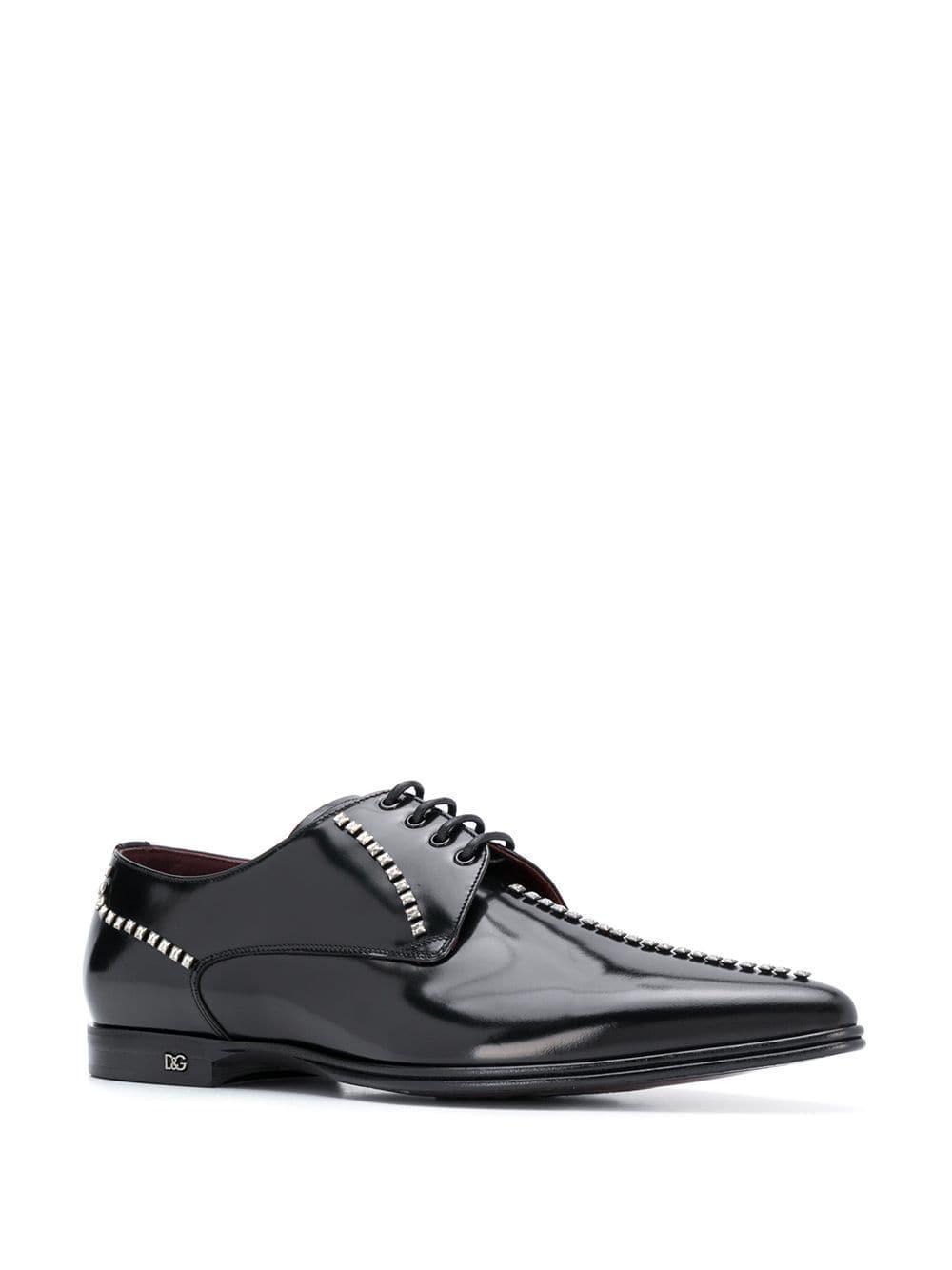 Zapatos derby con cordones Dolce & Gabbana de Cuero de color Negro para hombre