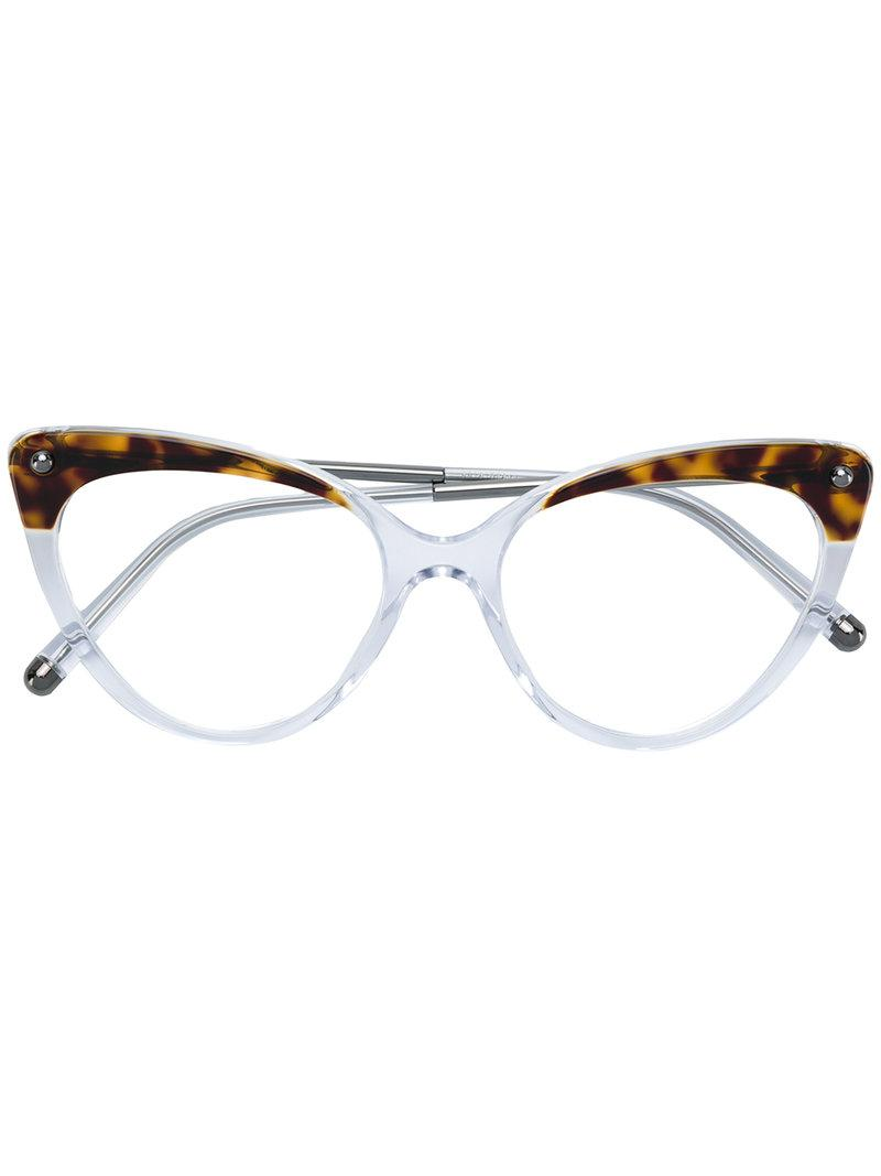 6cd827126ec2 Dolce   Gabbana Tortoiseshell Cat-eye Glasses in White - Lyst