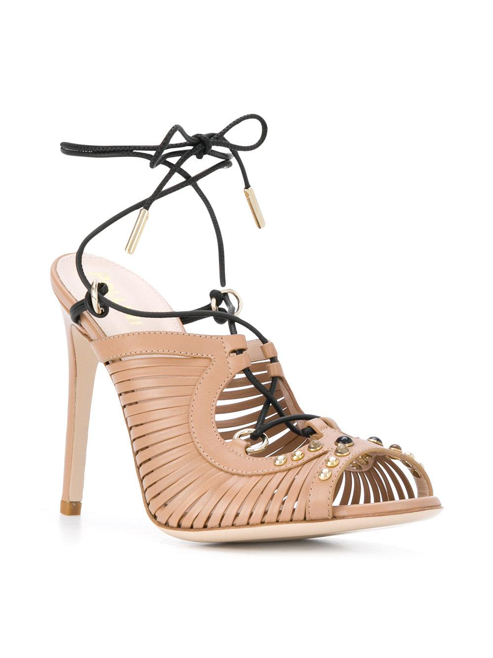 strappy ankle sandals - Nude & Neutrals Pollini lUZPc