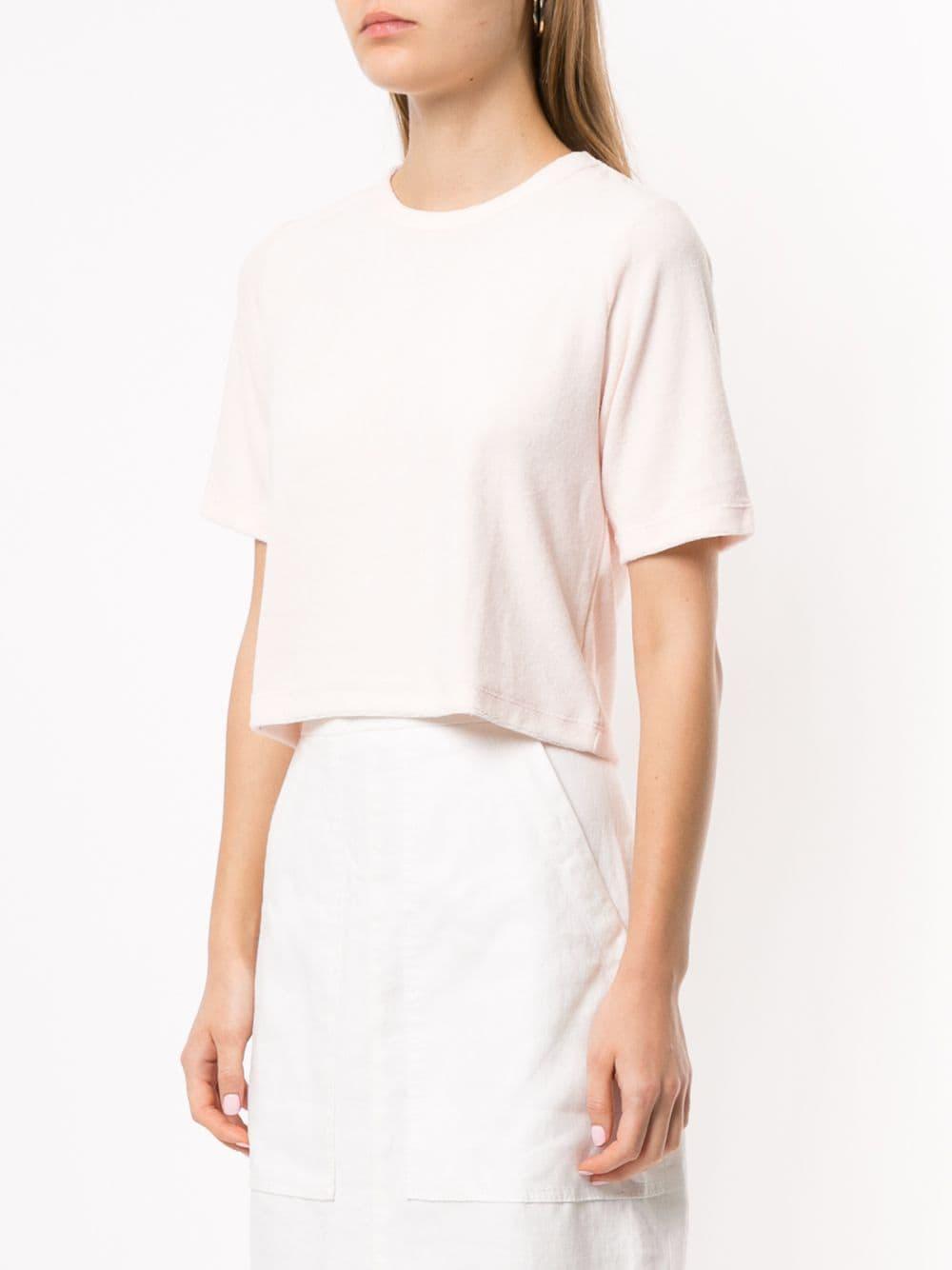 Camiseta corta Venroy de Algodón de color Rosa