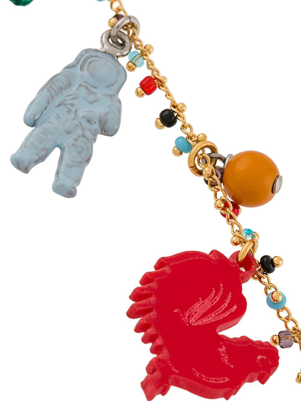 Marni Synthetic Charm Necklace in Red
