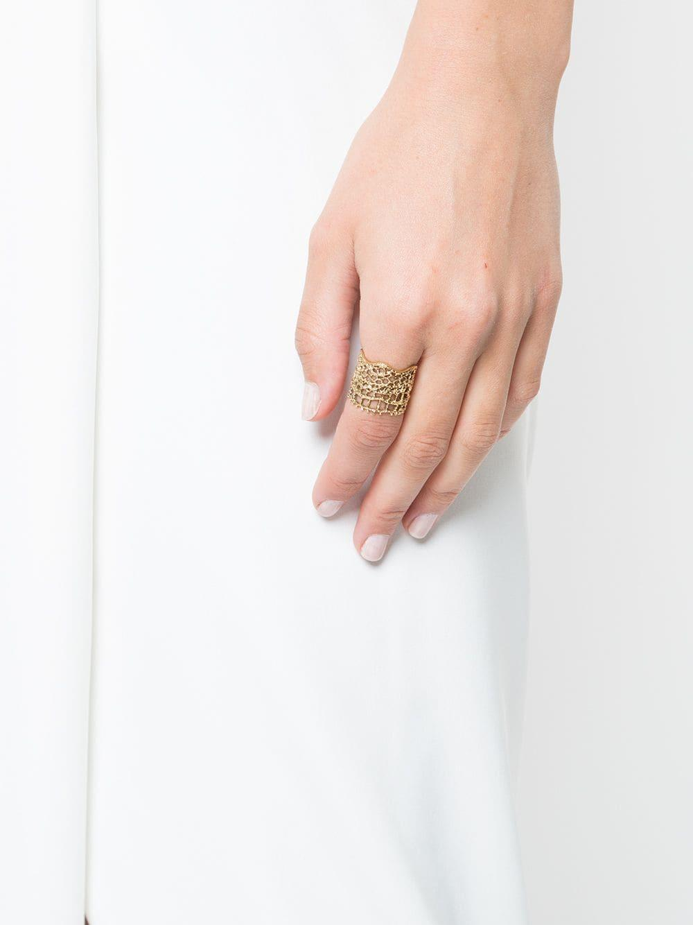 Aurelie Bidermann Dentelle Bague Ring - Save 49%