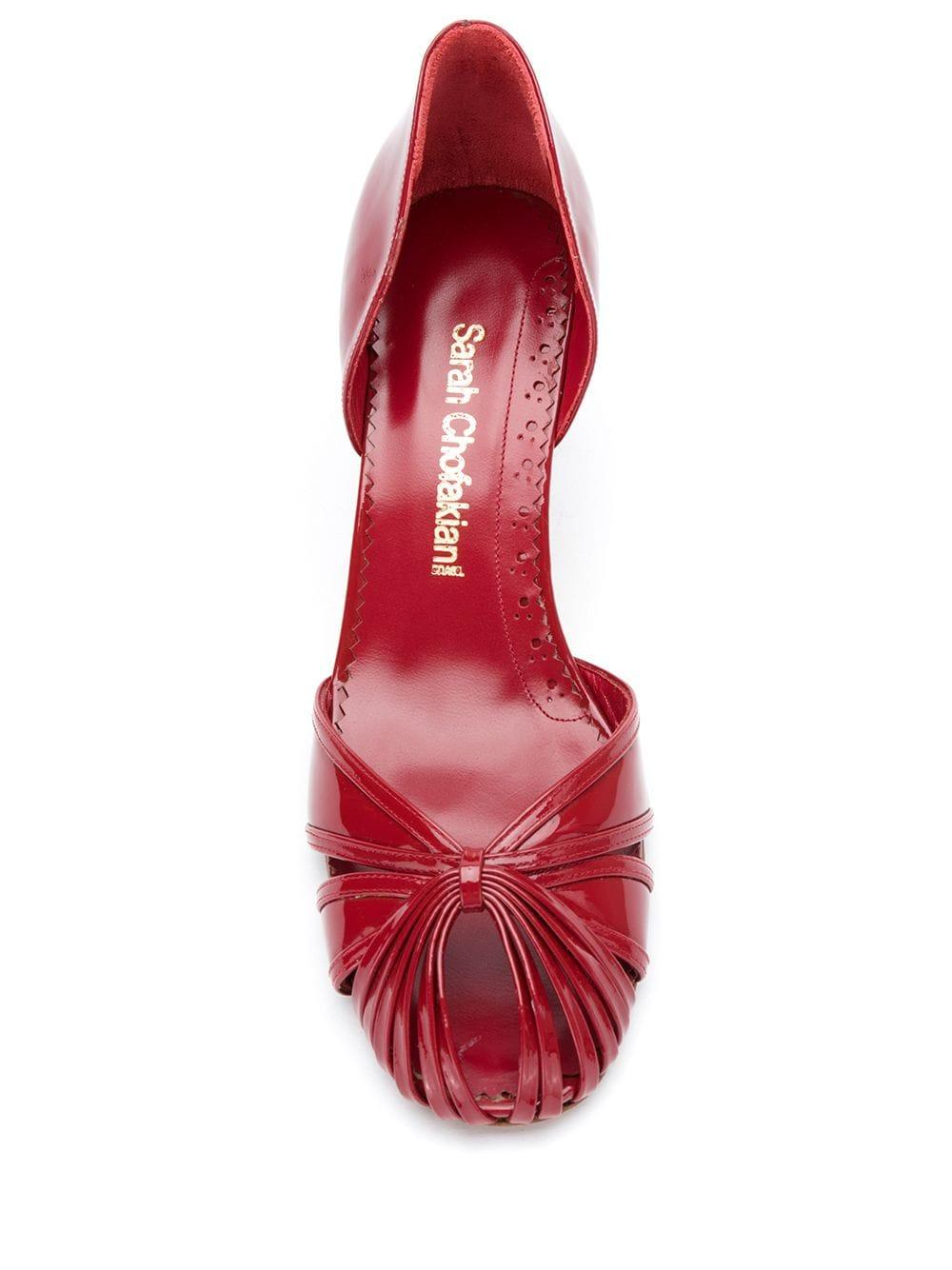 Zapatos de tacón Sarah Sarah Chofakian de Cuero de color Rojo