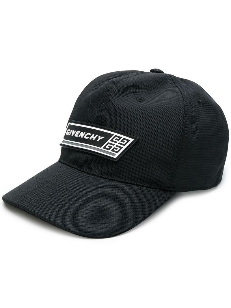 Givenchy Logo Baseball Cap in Black for Men - Lyst cf772b7ce6a7