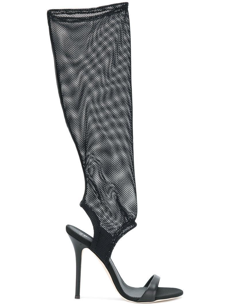 mesh open toe boots - Black Giuseppe Zanotti YzehlIHMGh
