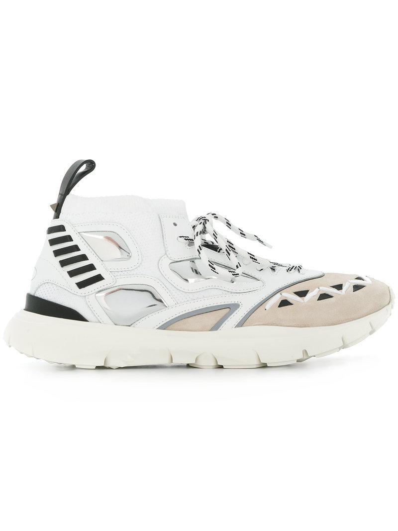 Bottega Veneta Grey Valentino Garavani Embroidered Heroes Sneakers gMD8C