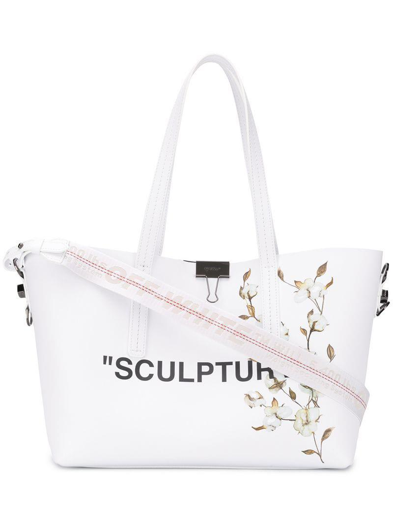 Off-White c o Virgil Abloh  sculpture  Tote Bag in White - Lyst c1030ab342872