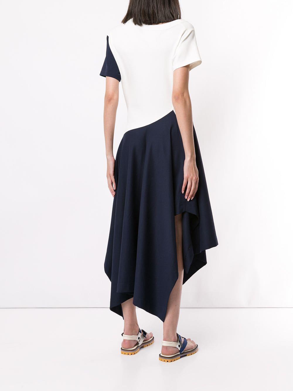 Vestido estilo camiseta asimétrico Monse de Tejido sintético de color Azul