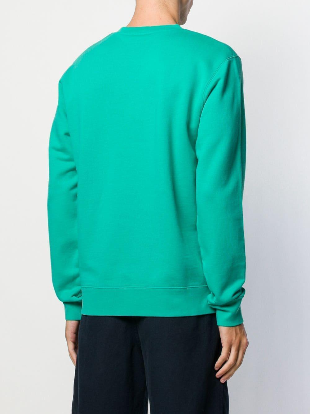 Sandro Katoen Sweater Met Tekst in het Groen voor heren
