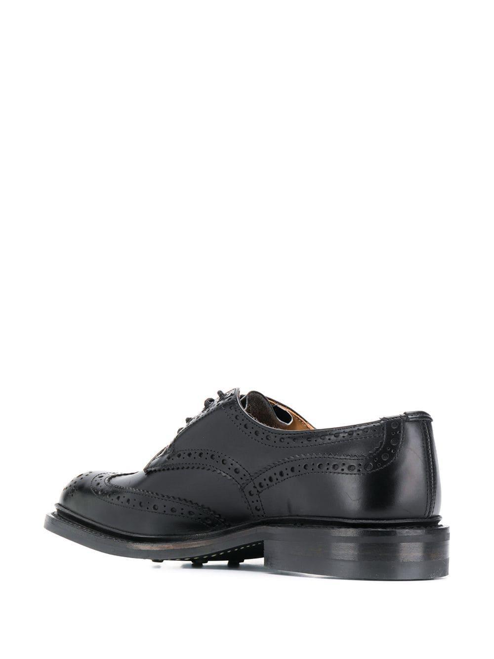 Tricker's Leer Bourton Brogue Schoenen in het Zwart voor heren