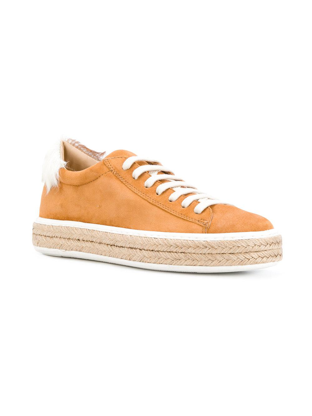 espadrille lace-up sneakers - Yellow & Orange Mr & Mrs Italy Clearance Footlocker Pictures With Paypal For Sale Big Sale Sale Online EFMoIeGM