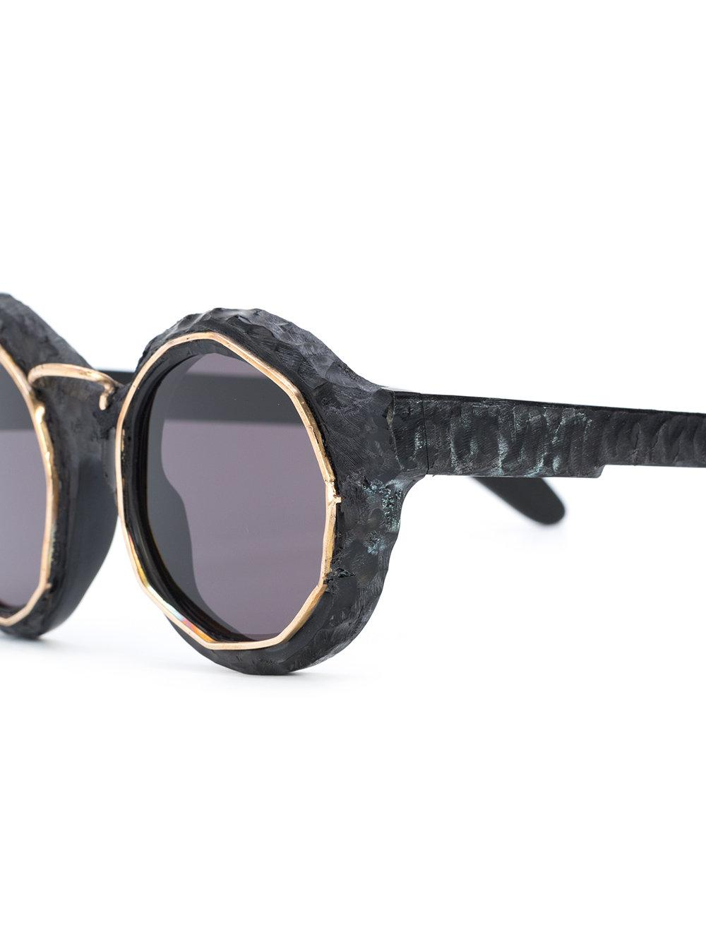 Kuboraum Trendy Round Sunglasses in Metallic