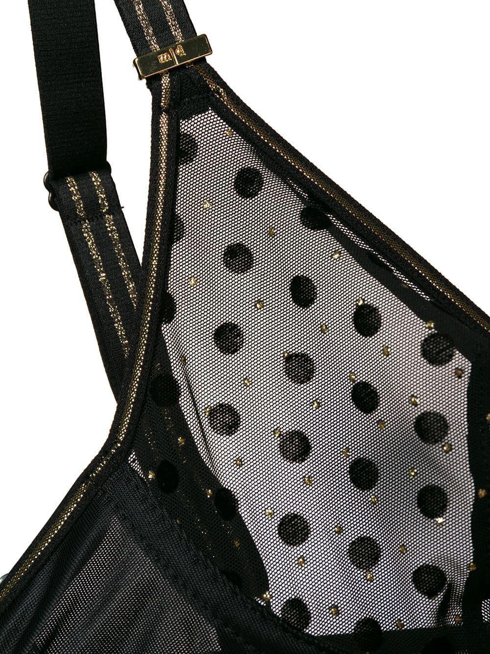 18d5072abf161 Lyst - Marlies Dekkers Petit Point Plunge Bra in Black