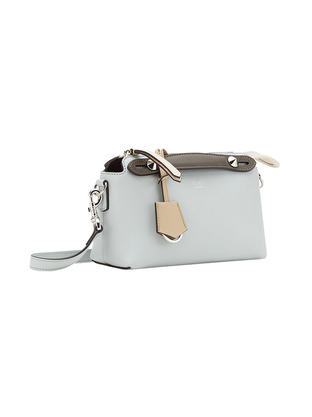 Fendi Leather Mini By The Way Tote in Grey (Grey)