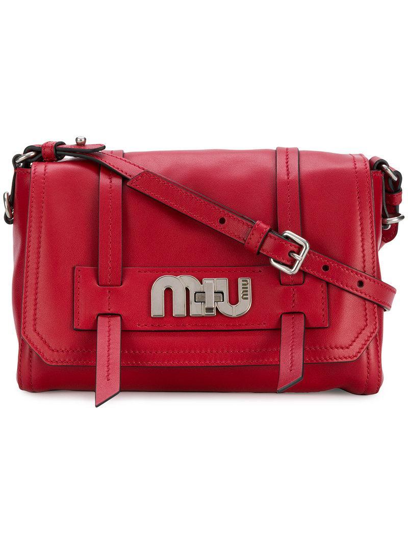 eb279ef14862 Lyst - Miu Miu Grace Lux Bag in Red