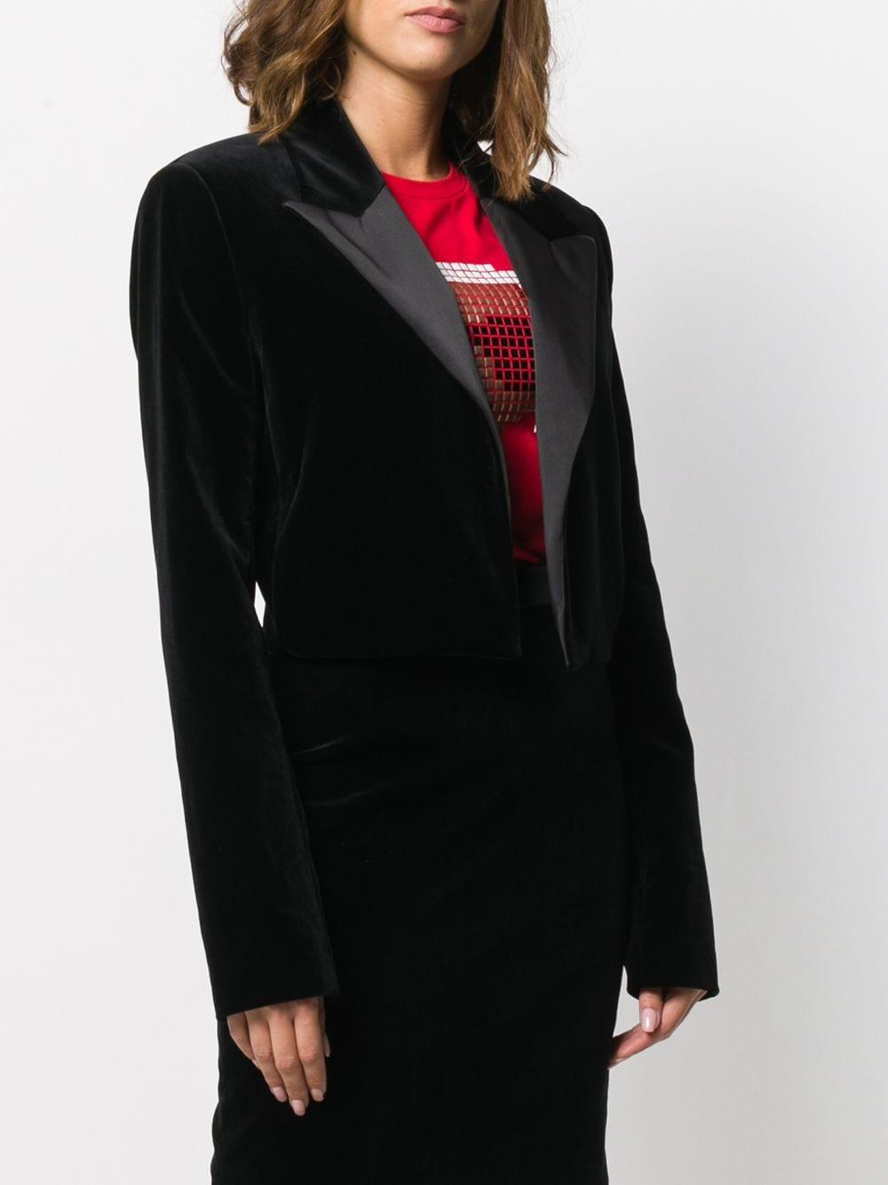 Chaqueta Karl x Carine Karl Lagerfeld de Terciopelo de color Negro