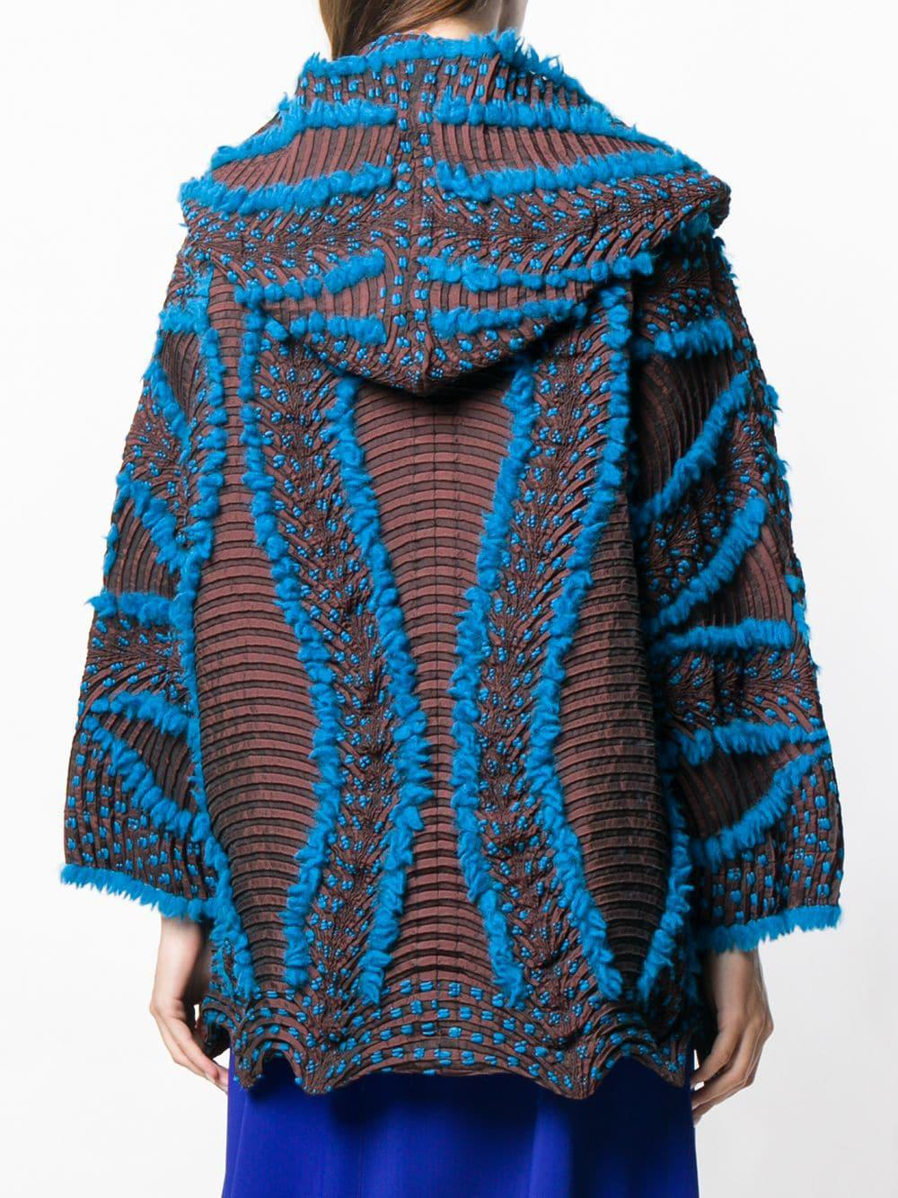 Blue in Textured Wave Issey Miyake Jacket Lyst 14Hwq0YY