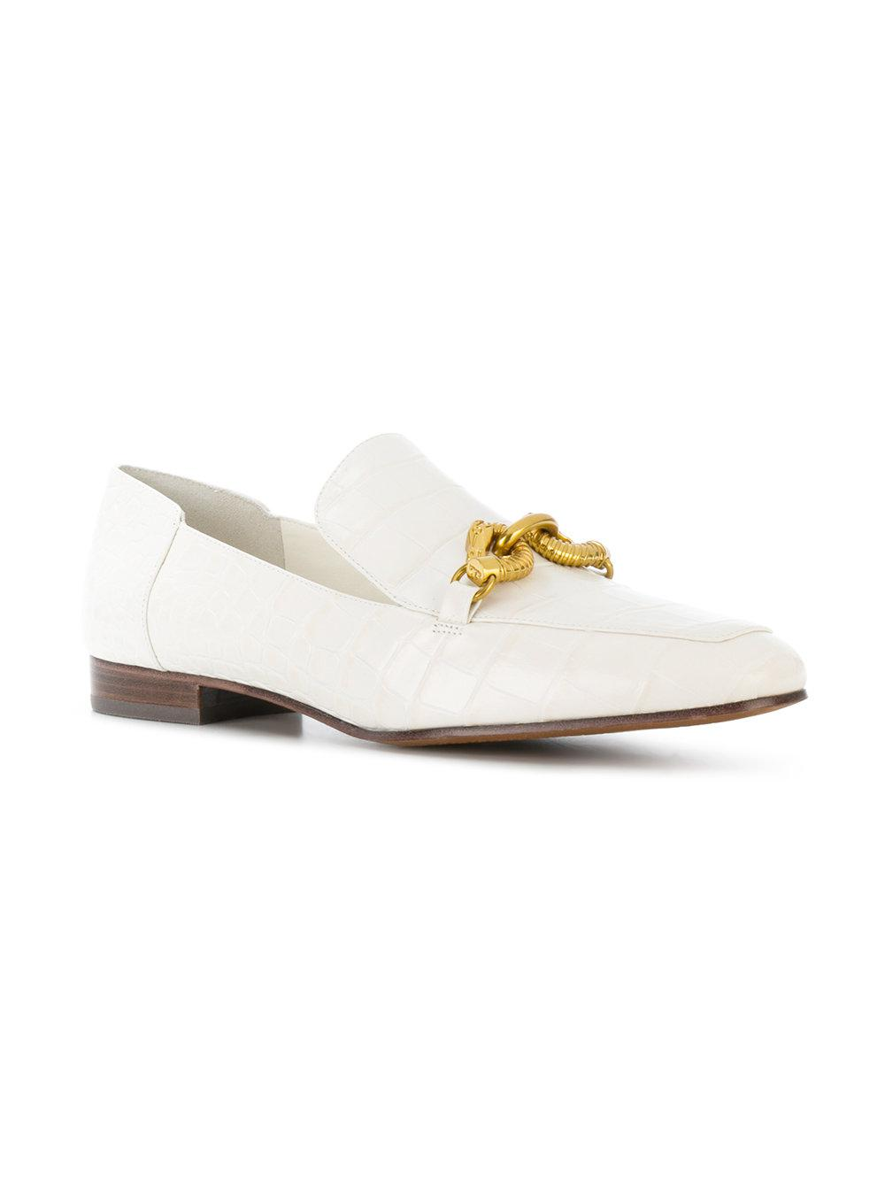 d155c29c119 Lyst - Tory Burch Jessa Horse-hardware Loafers in White