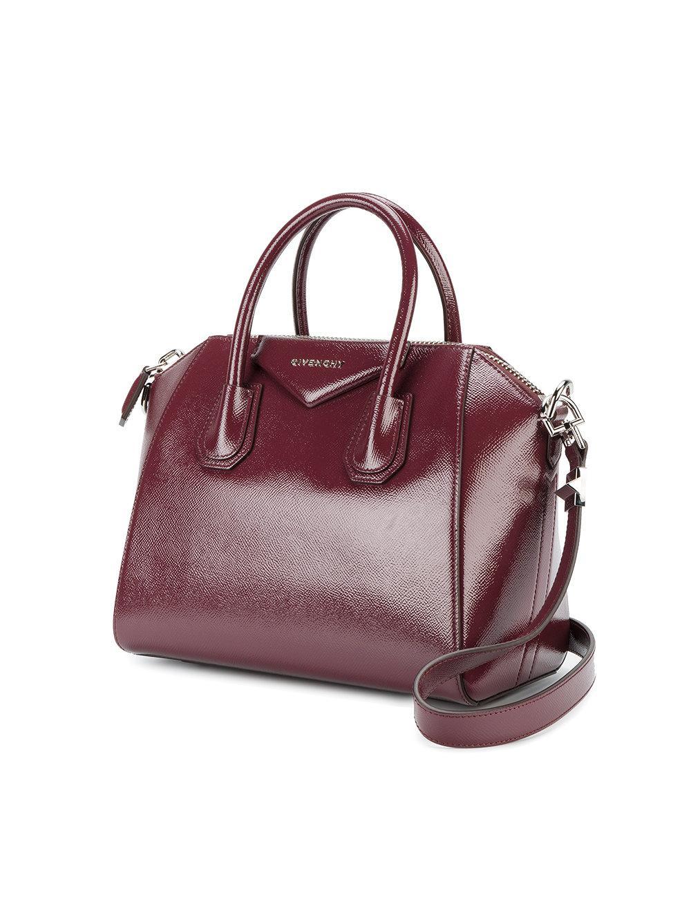 Givenchy Leather Medium Antigona Bag in Red