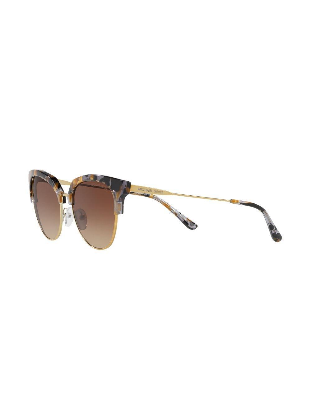 Michael Kors Cat-eye Shaped Sunglasses in Gold (Metallic)