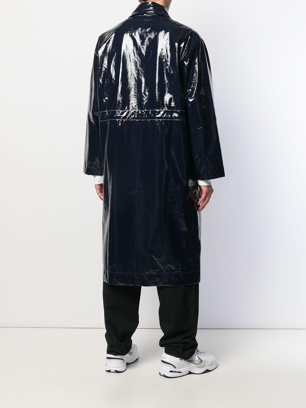 A_COLD_WALL* Regenjas Met Contrasterende Stiksels in het Blauw voor heren