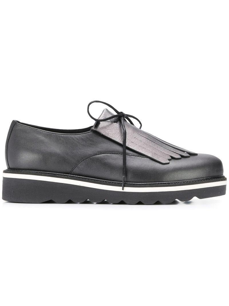 f1f40d3077824 Lyst - Tommy Hilfiger Fringed Platform Shoes in Black