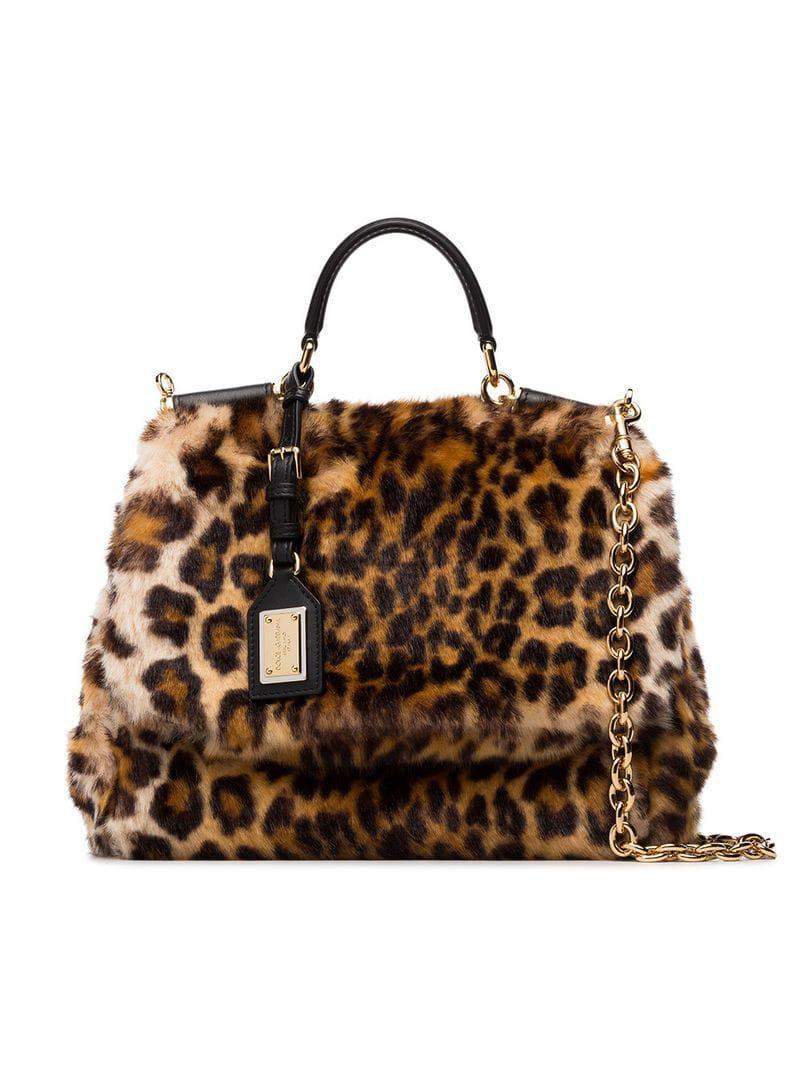 Dolce   Gabbana. Women s Brown And Yellow Sicily Calf Hair Shoulder Bag 4f954bba010fe