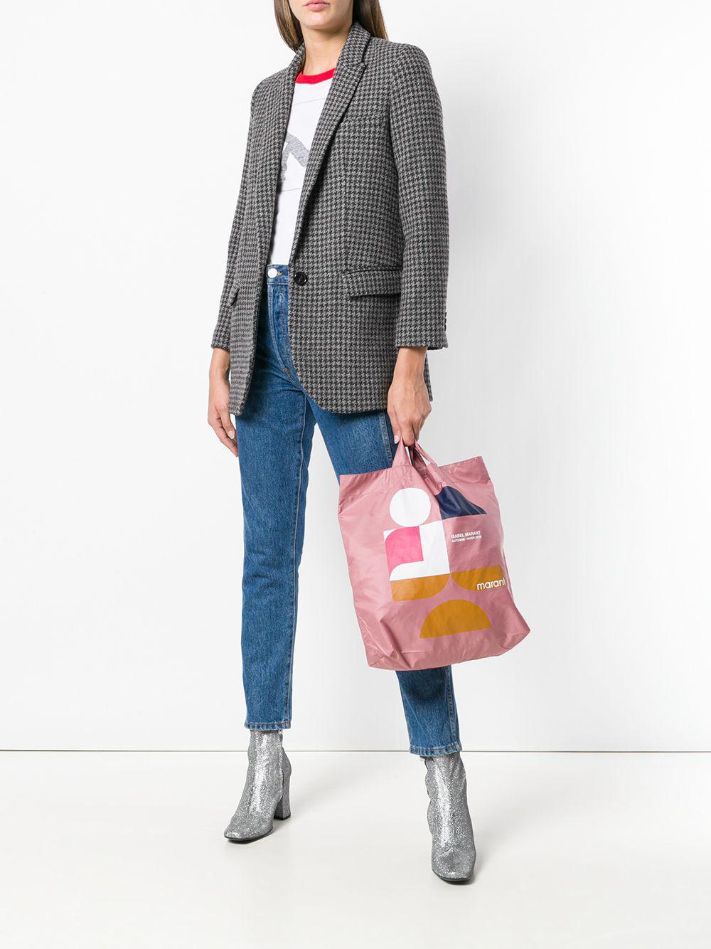"""Isabel Marant Pink """"woom"""" Shopper Bag"""