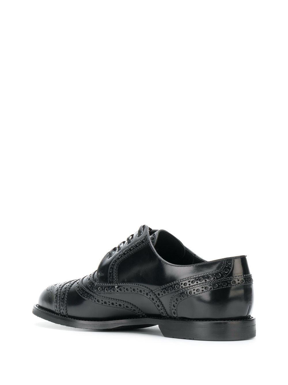 Zapatos derby estilo brogues Dolce & Gabbana de Cuero de color Negro para hombre