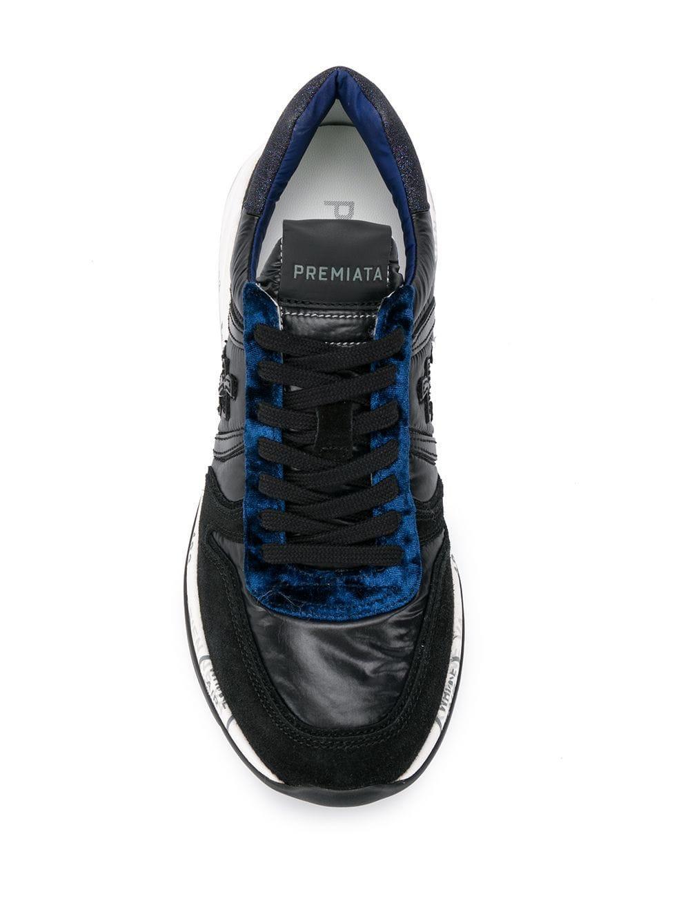 Zapatillas Layla Premiata de Cuero de color Negro