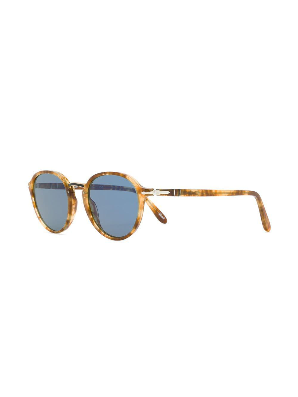 5d58dc6662181 Persol Round Frame Sunglasses in Brown for Men - Lyst