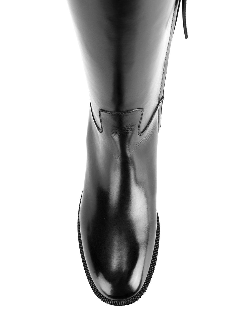 Sartore Leather Low Heeled Boots in Black