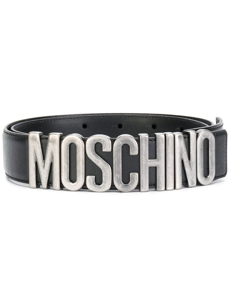 Lyst - Ceinture à logo Moschino en coloris Noir 444e1416730