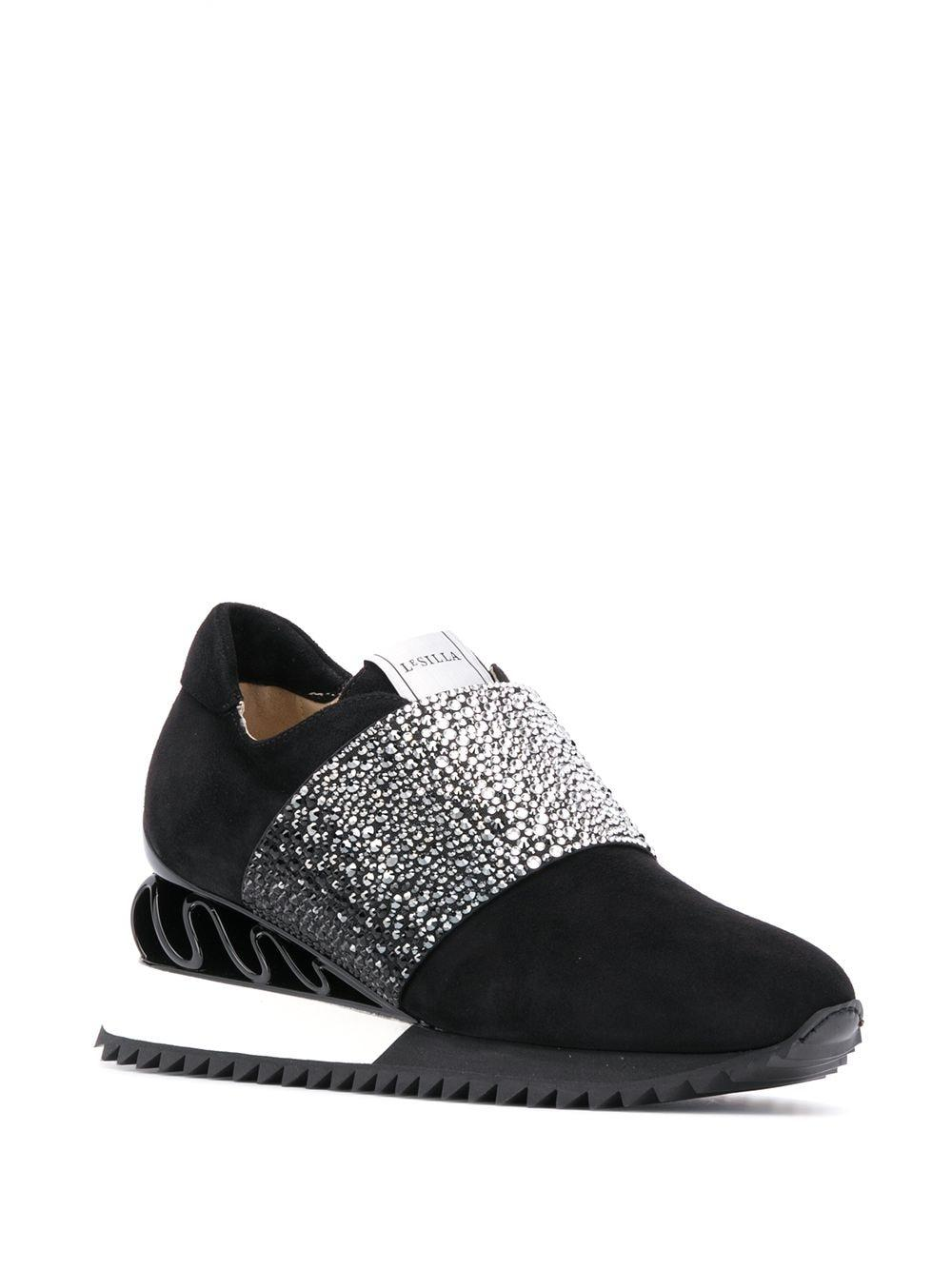 Zapatillas Reiko Le Silla de Cuero de color Negro