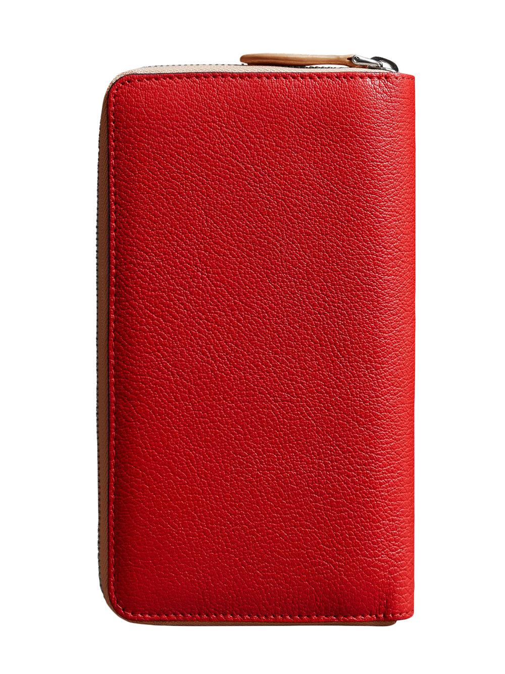 Lyst - Portefeuille zippé à intérieur contrastant Burberry pour ... 5517b54a355