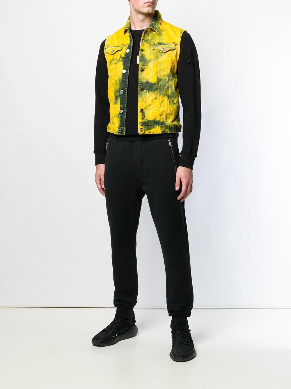 d459b397437788 Lyst - DSquared² Sleeveless Denim Jacket in Yellow for Men