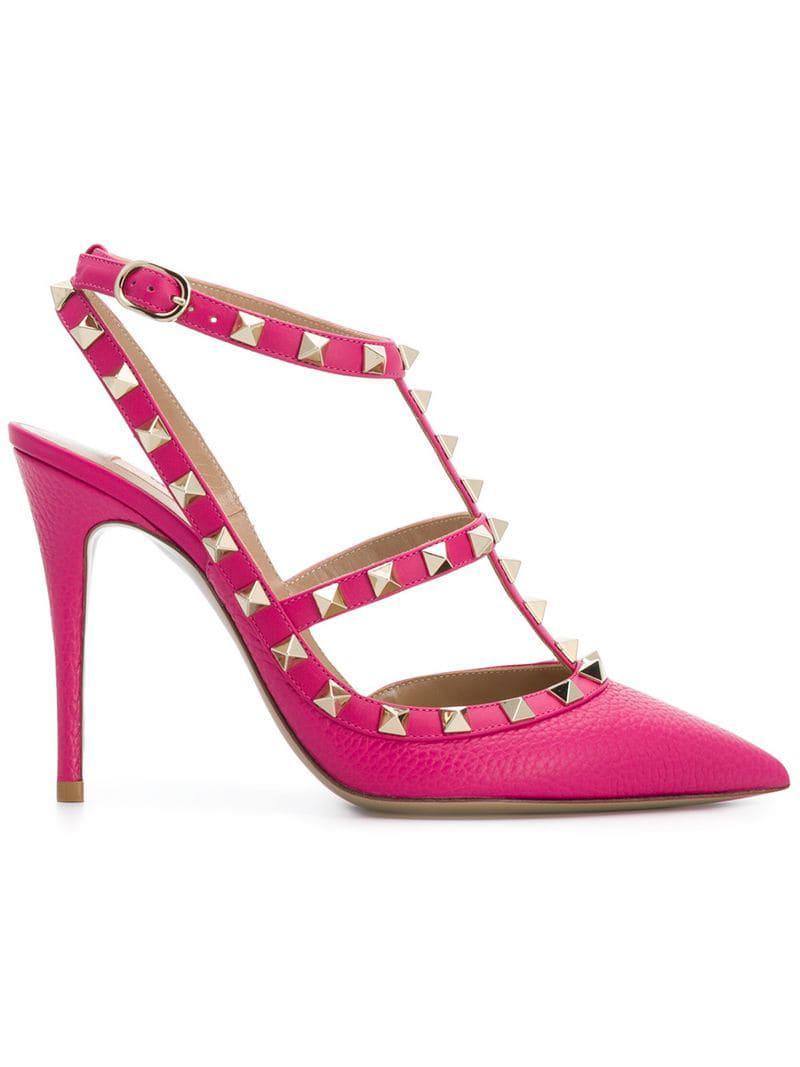 356747542383 Valentino Garavani Rockstud Pumps in Pink - Save 20.0% - Lyst