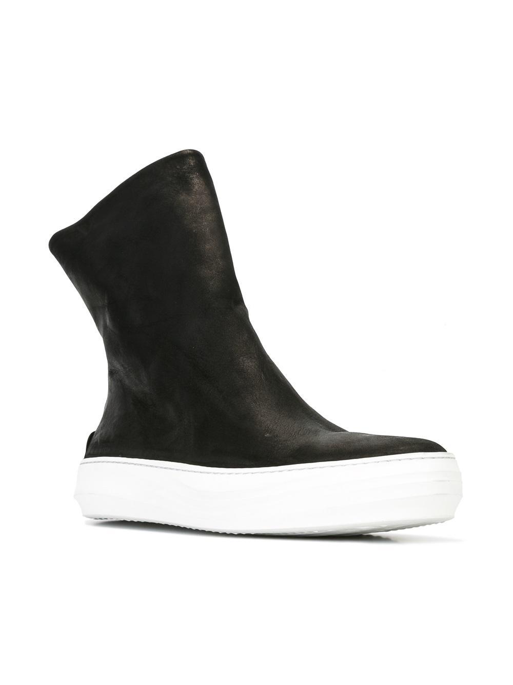 The Last Conspiracy Leather Pedro Hi-tops in Black for Men