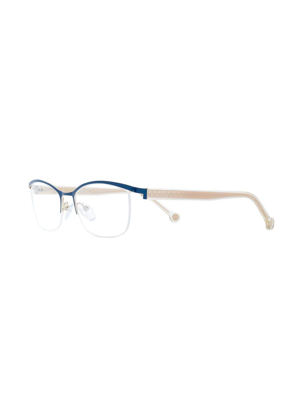 3be1845763 CH by Carolina Herrera - Multicolor Rectangular Shape Glasses - Lyst. View  fullscreen