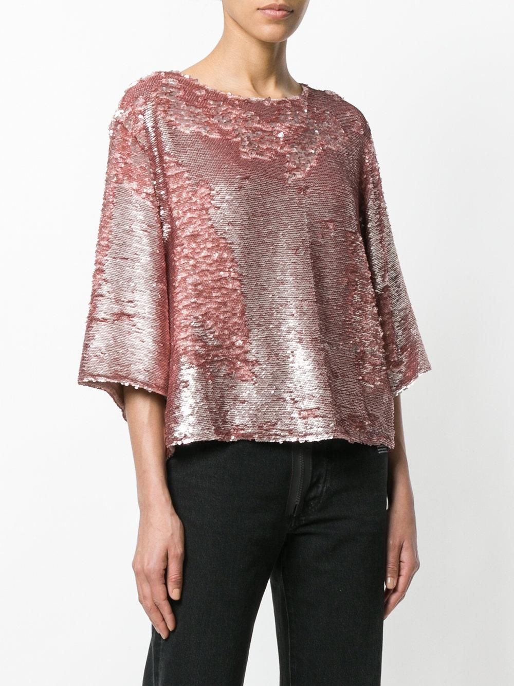 sequined blouse - Pink & Purple Amen Clearance The Cheapest Buy Cheap Inexpensive aRejWH4