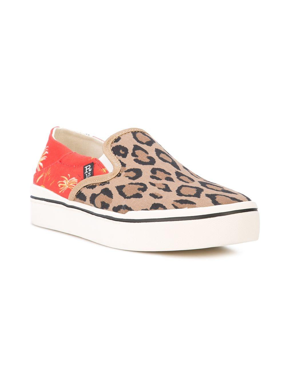 d5037a9ae57a R13 Leopard Print Sneakers in Red - Save 21% - Lyst