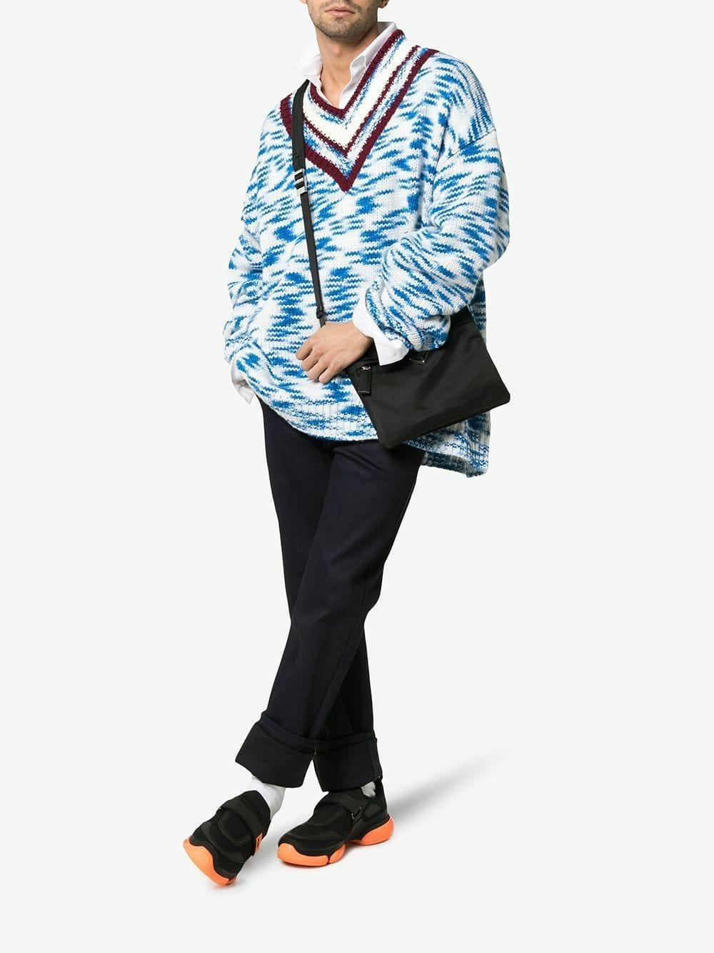 Prada Rubber Cloudbust Sneakers Met Zool Detail in het Zwart voor heren