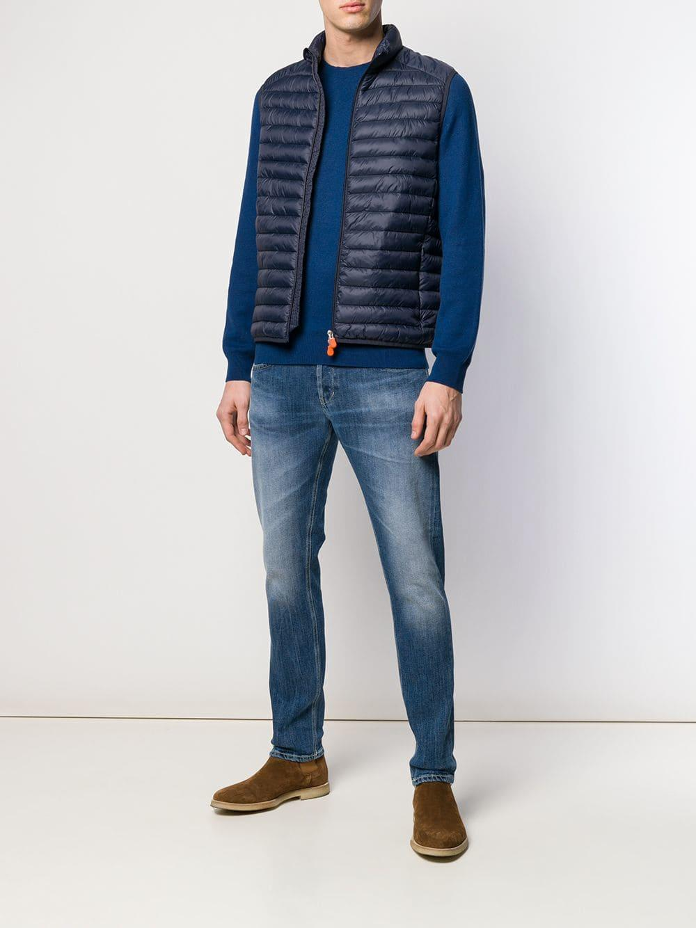 df759b54f2b Lyst - Save The Duck Padded Gilet in Blue for Men