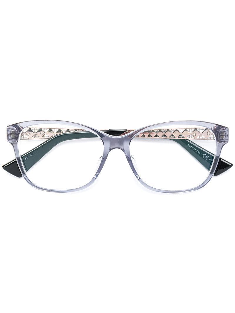 2496f88ebc Dior Diorama Glasses in Blue - Lyst